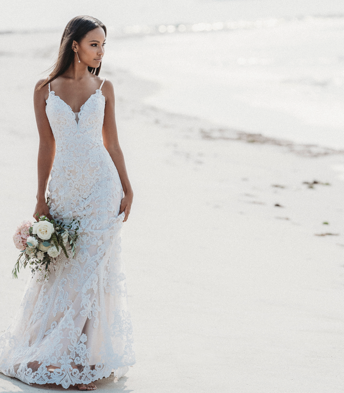 allure lace wedding dress on the beach from studio i do virginia beach and roanoke